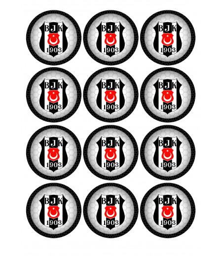 Beşiktaş Kurabiye Için Gofret Kağıda Baskı