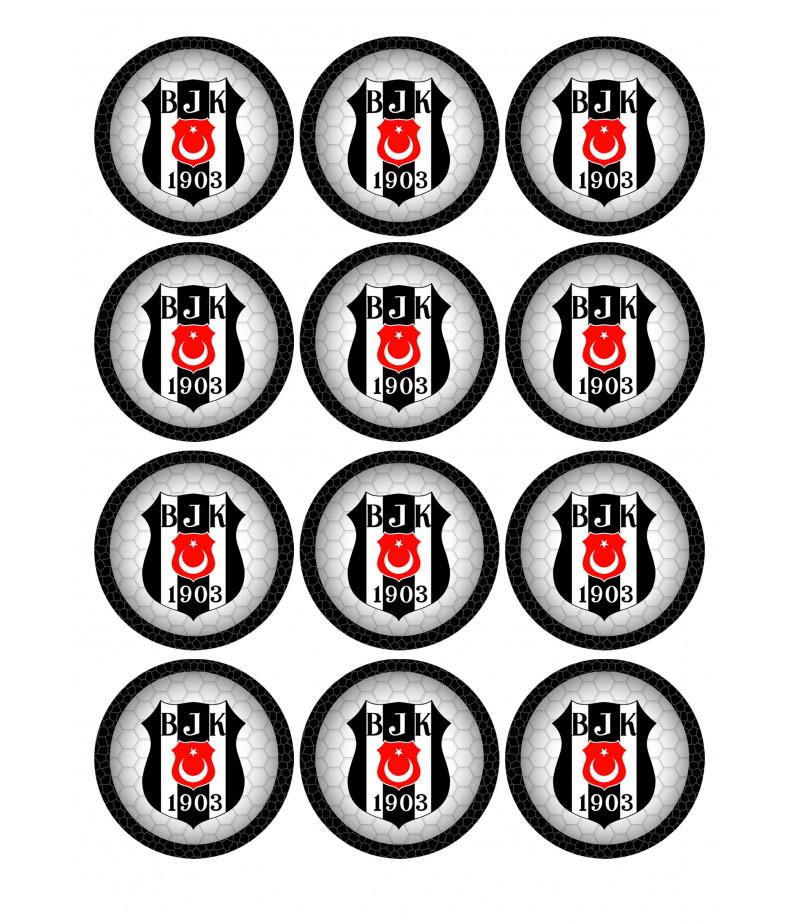 Beşiktaş Kurabiye Için Seker Hamuru Baskısı