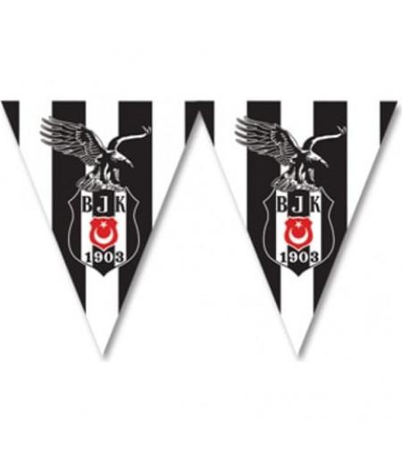 Beşiktaş Temalı Kağıt Flamalar