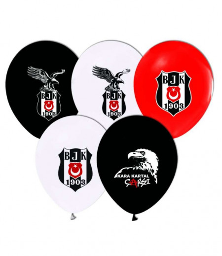 Beşiktaş Temalı Parti Balonları - 8 adet