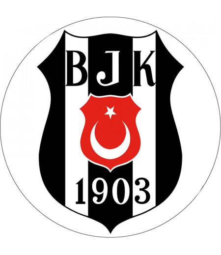 Beşiktaş Yuvarlak Gofret Kağıdı İle Baskı