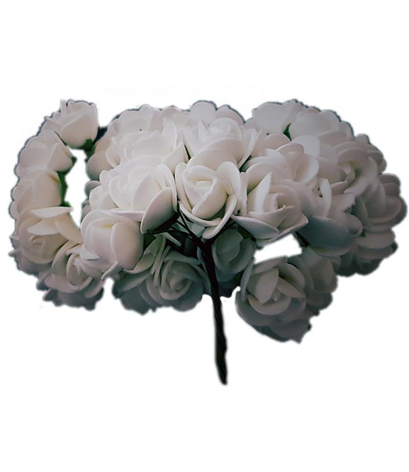 Beyaz Güller Süsleme Cicekleri,2 Demet