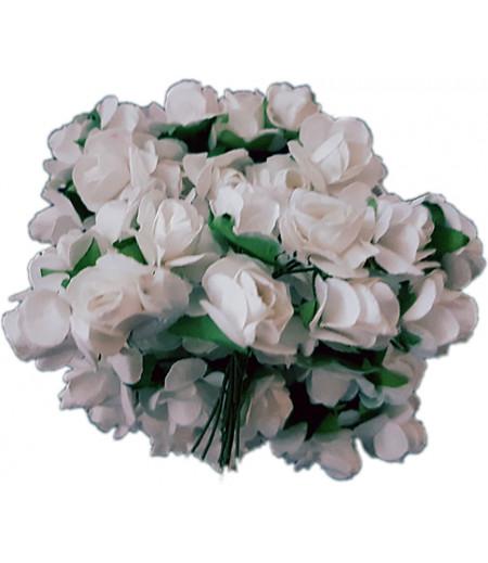 Beyaz Mini Güller Süsleme Cicekleri,2 Demet