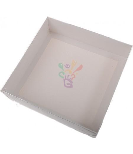 Beyaz Renk Asetat Kutular,20x20x5cm,Adet