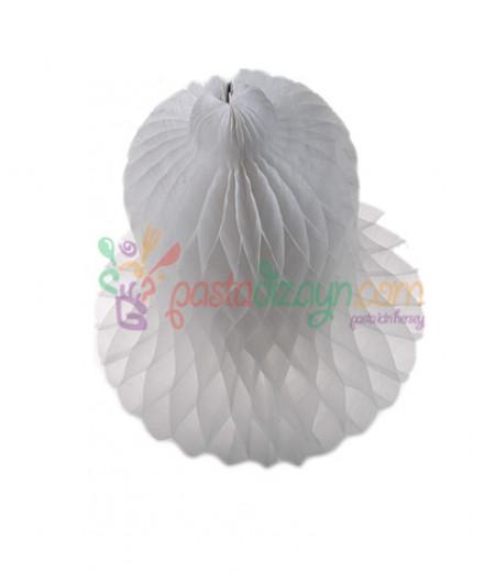 Beyaz Renk Çan Şeklinde Petek Fener,20cm