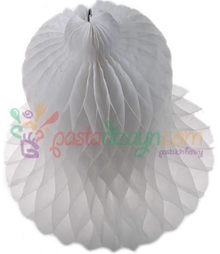 Beyaz Renk Çan Şeklinde Petek Fener,30cm