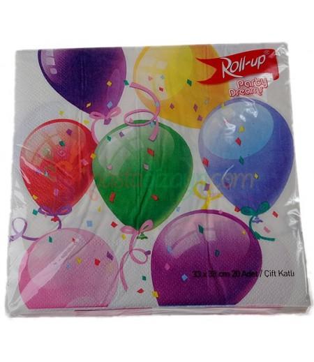 Balonlar Temalı Kağıt Peçeteler