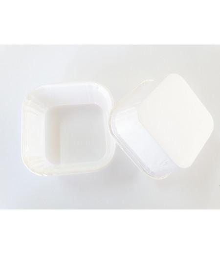 Beyaz Renk Kare Kek Kapsülü
