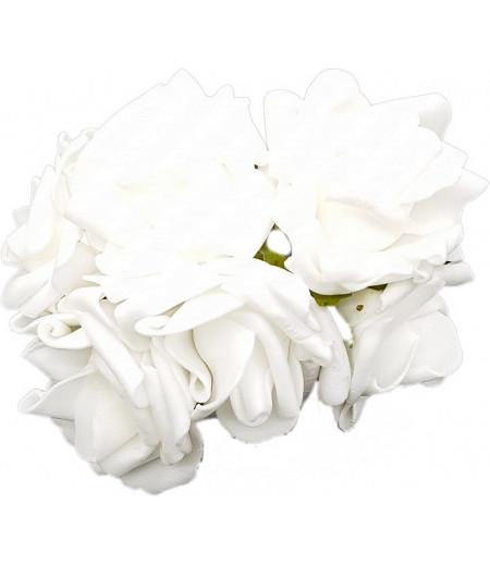 Beyaz Lateks 6lı Gül Çiçek