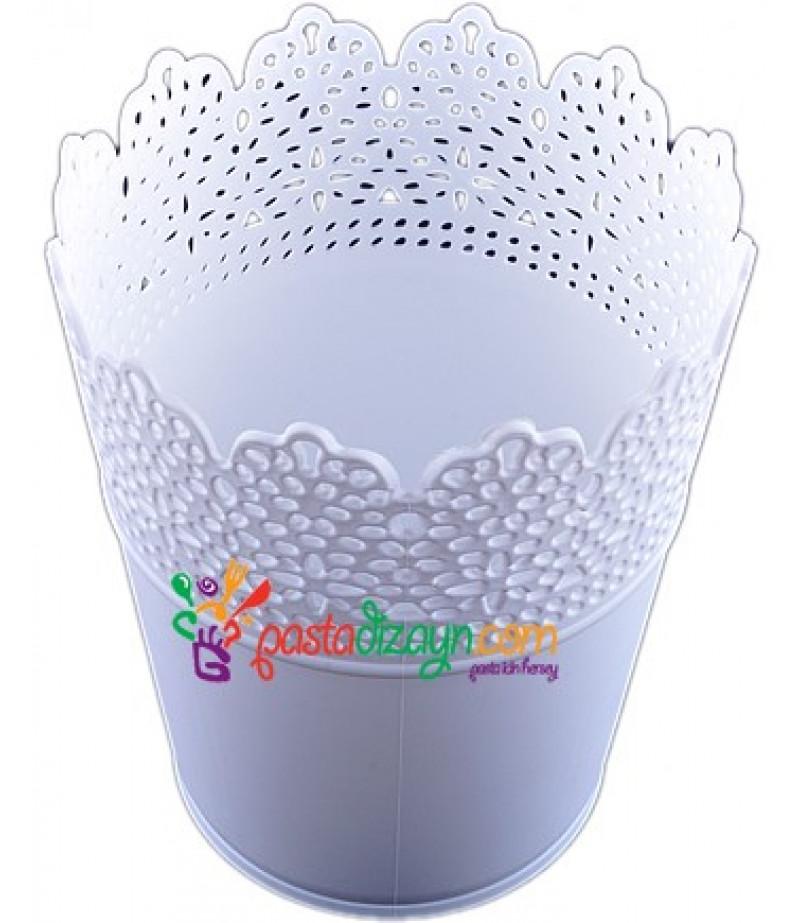 Beyaz Renk Plastik Sunum Kovası
