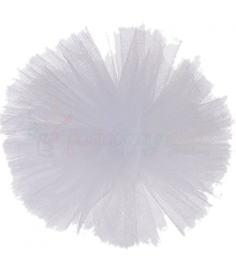 Beyaz Renk Tül Ponpon,Adet