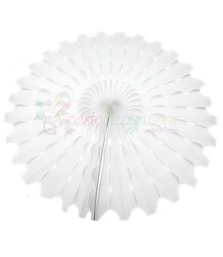 Beyaz Renk Yelpaze Parti Feneri