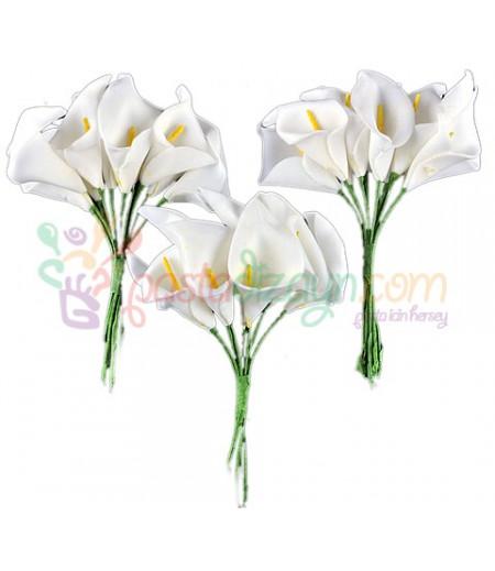 Beyaz Zambak Süsleme Cicekleri,2 Demet