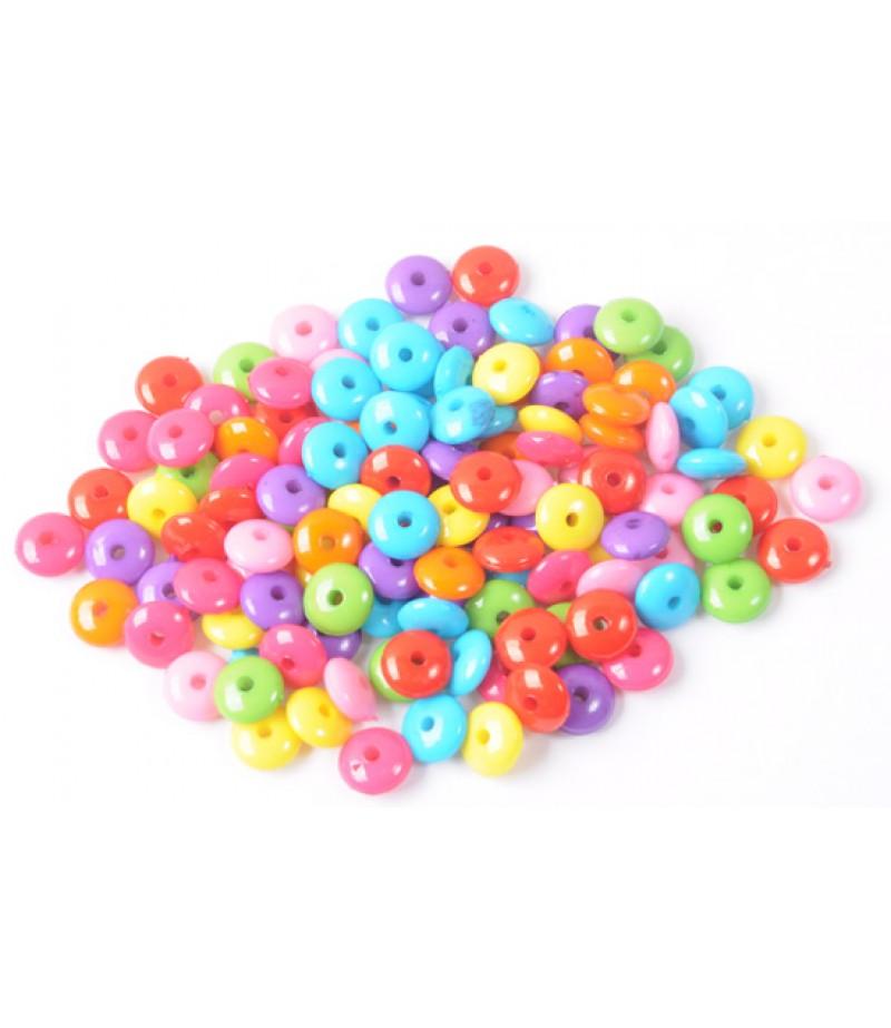 Bileklik için renkli plastik,şekilli boncuklar-3