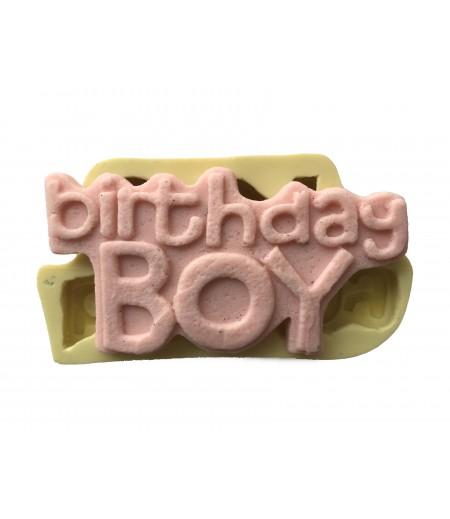 Birthday Boy Yazılı Silikon Kalıp