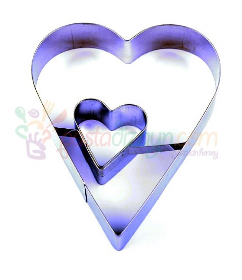 Büyük Kalpler Kurabiye Kalıbı,10cmx4cm