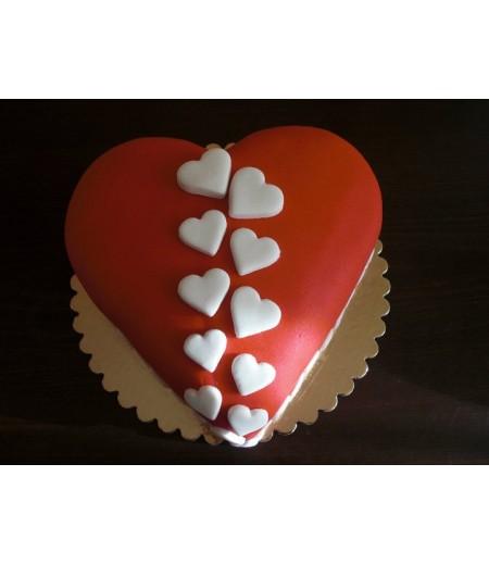 Kalp Şekilli Özel Pasta,13-15 Kişilik