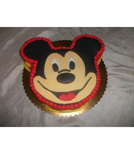 Mickey Mouse Şekilli Pasta,12-14 Kişilik