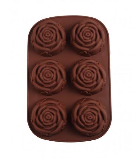 Büyük Güller Çikolata,Sabun,Kokulu Taş Kalıbı