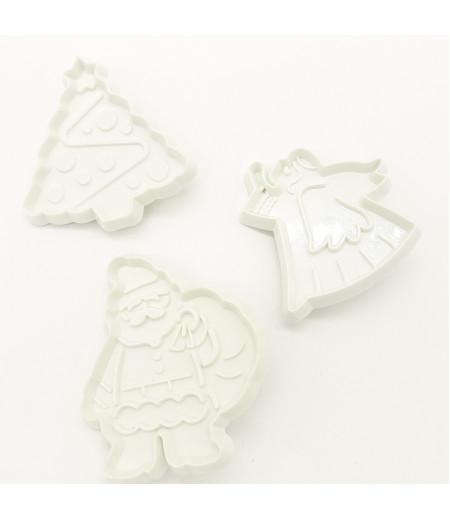 Çam Ağacı Noel Baba Melek 3 lü Kopat Set