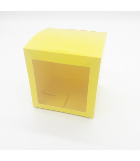 10x10x10 Cupcake ve Makaron Kutusu Sarı Renk