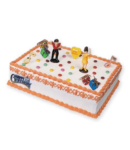 Dans Partisi Pasta Süsü (2 Dansçı,4 Hediye Paketi,2 Nota,1 Balon)