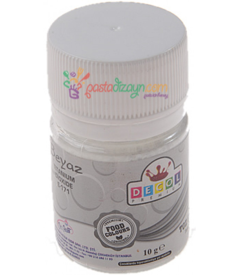 Decol Beyaz Renk Toz Gıda Boyası,10gr