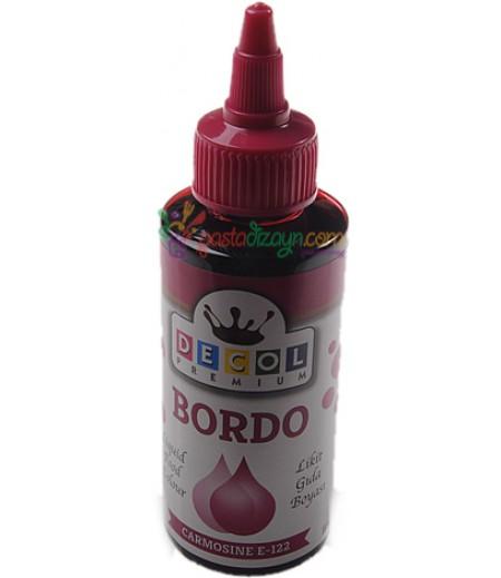 Decol Bordo Renk Gıda Boyası,115ml
