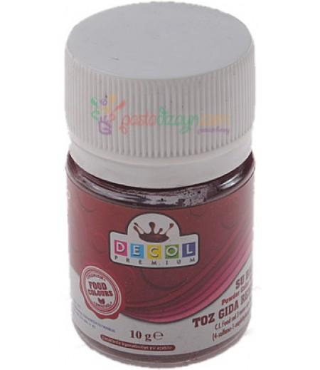 Decol Bordo Renk Toz Gıda Boyası,10gr