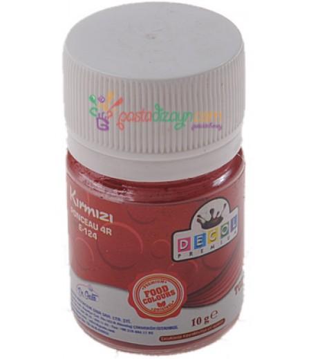 Decol Kırmızı Renk Toz Gıda Boyası,10gr