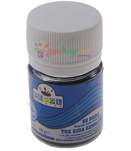 Decol Mavi Renk Toz Gıda Boyası,10gr