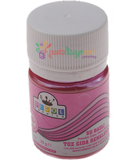 Decol Pembe Renk Toz Gıda Boyası,10gr