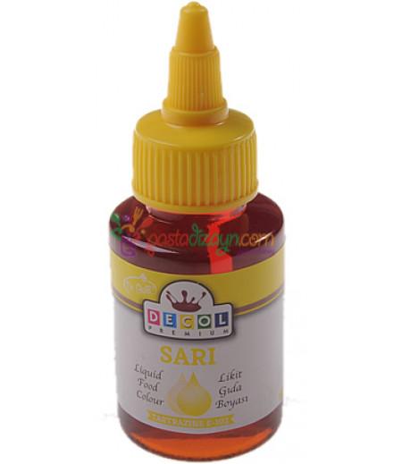 Decol Sarı Renk Gıda Boyası,60ml