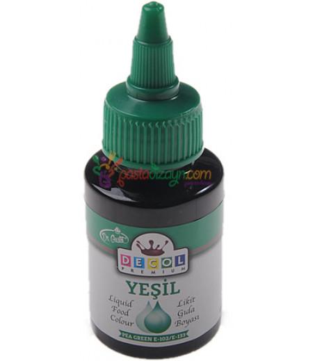 Decol Yeşil Renk Gıda Boyası,60ml