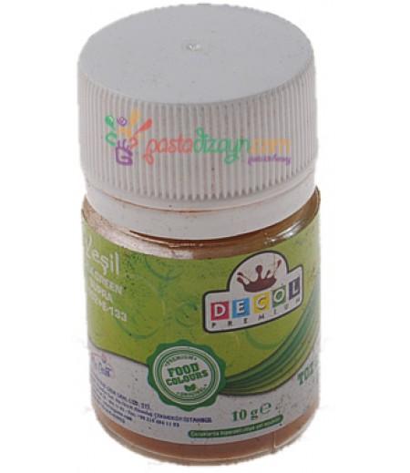 Decol Yeşil Renk Toz Gıda Boyası,10gr