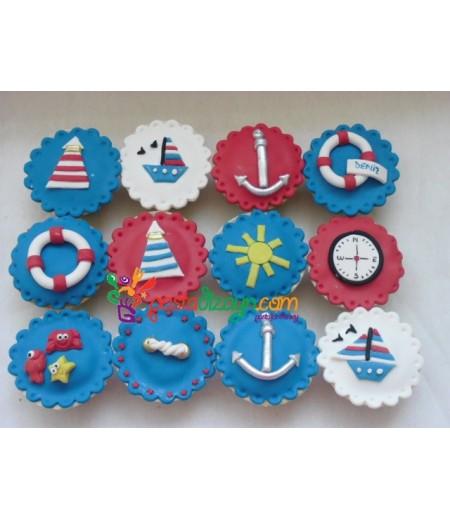 Deniz Temalı Cupcake Seti