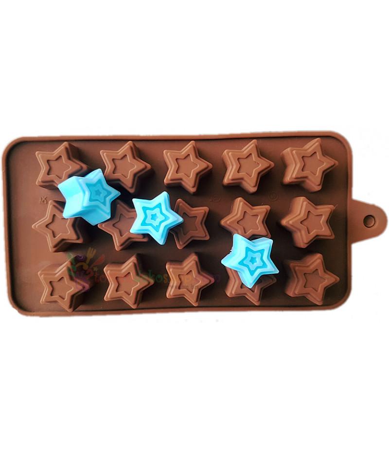 Desenli Yıldız Çikolata,Sabun Kalıbı