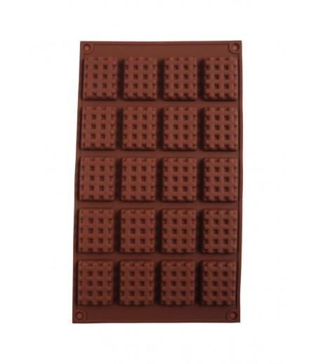 Dikdörtgen Izgara Çikolata,Sabun,Kokulu Taş Kalıbı