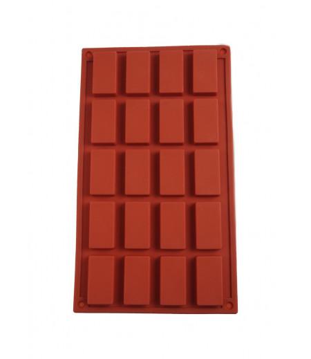 Diktörtgen Küp Çikolata,Sabun,Kokulu Taş Kalıbı