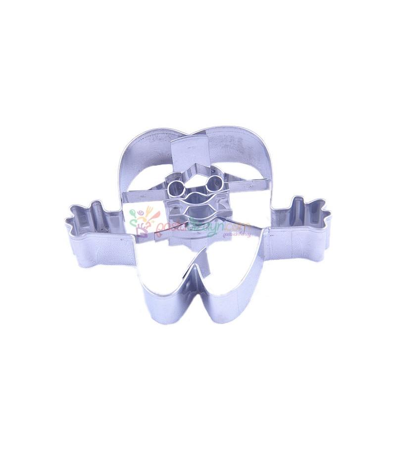 Diş Adam Kurabiye Kalıbı,4.5x5.5cm