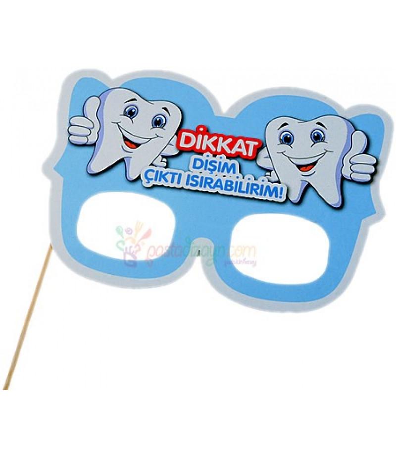 Dişim Çıktı Mavi Renk Karton Gözlük