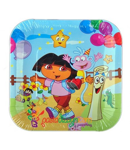 Dora Figürlü Kağıt Tabaklar,8 adet