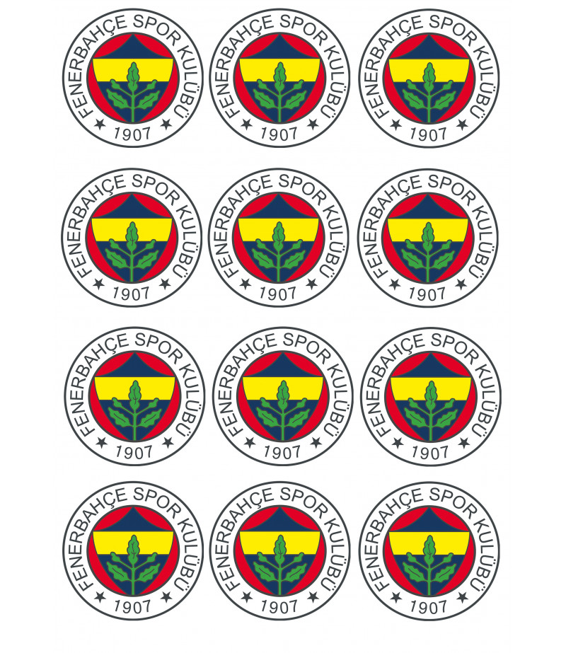 Fenerbahçe Kurabiye Icin Seker Hamuru Baskısı