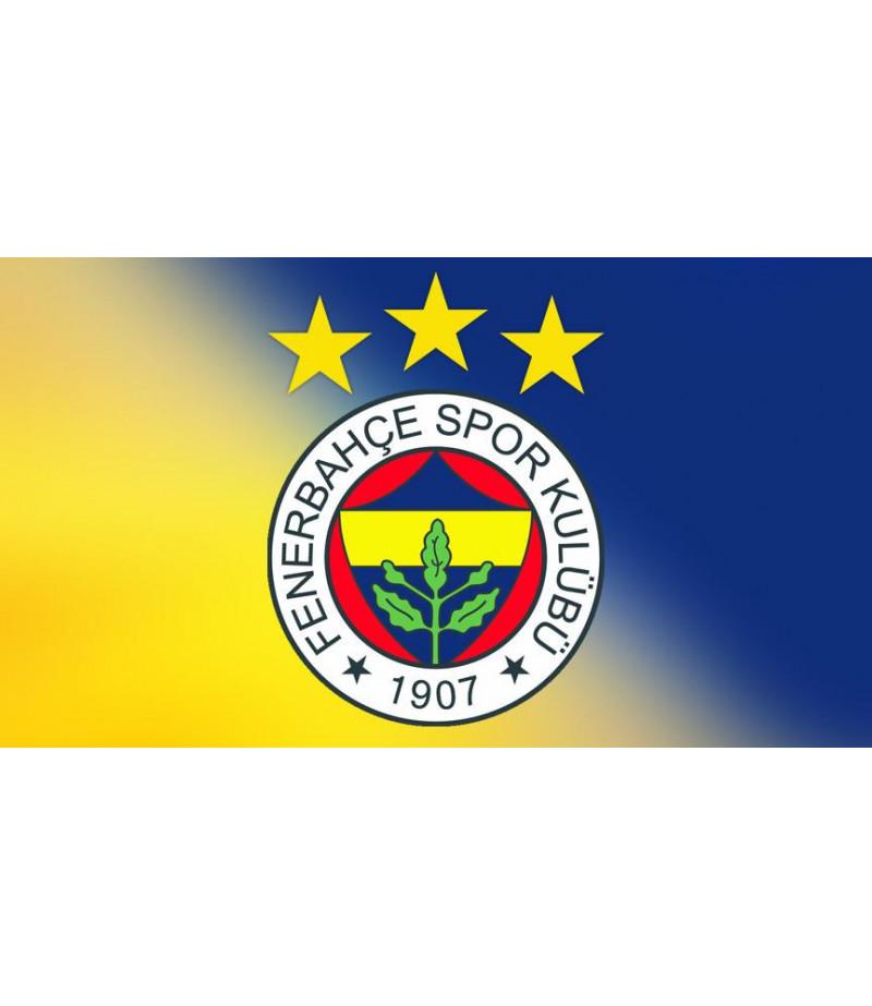 Fenerbahçe Logo Şeker Hamuru Kağıdı İle Baskı