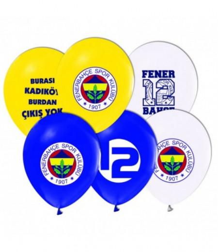 Fenerbahçe Temalı Parti Balonları - 8 adet