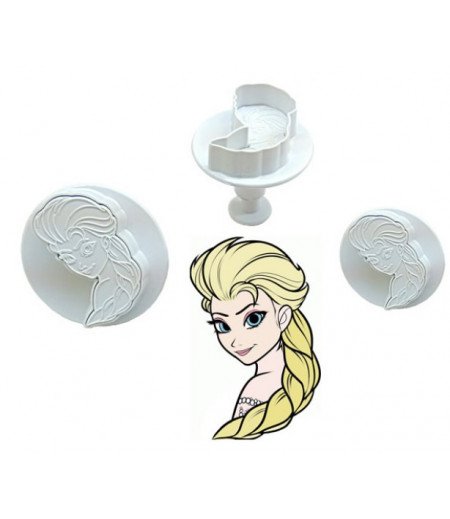 Frozen,Elsa Şekilli Basmalı Kopat Set, 3'lü