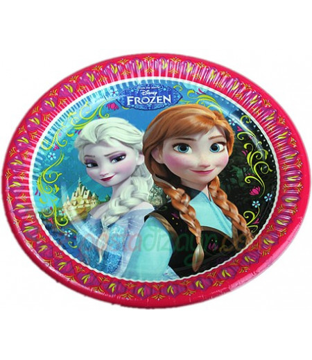Frozen,Karlar Prensesi Figürlü Kağıt Tabaklar