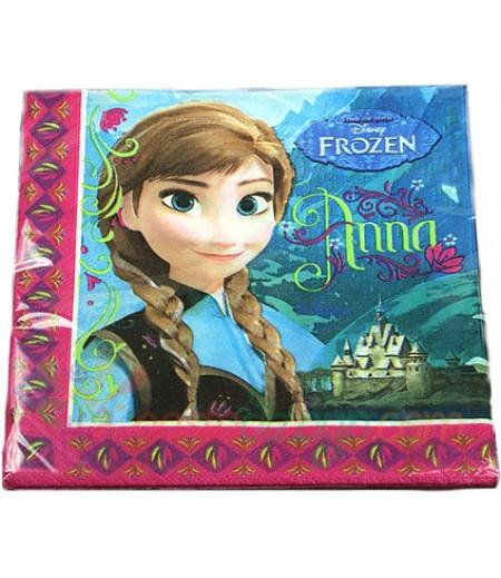 Frozen,Karlar Prensesi Figürlü Peçeteler