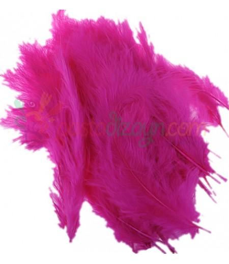 Fuşya Rengi Süsleme Tüyleri