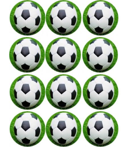 Futbol Temalı Kurabiye için Gofret Kağıdı ile Baskı